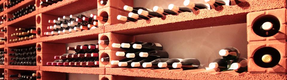 weinregalsystem hydroton weinregal aus stein von. Black Bedroom Furniture Sets. Home Design Ideas