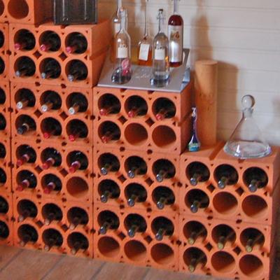 Weinregal Lagerziegel von Neuschwander aus gebranntem Ton - Weinkeller